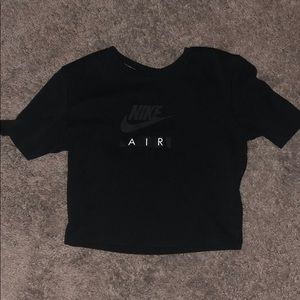 Nike air black crop top